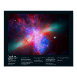 The Active Cigar Galaxy - Messier 82 Poster