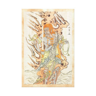 The Actor Ichikawa Danjuro V as a Stone Image Canvas Print