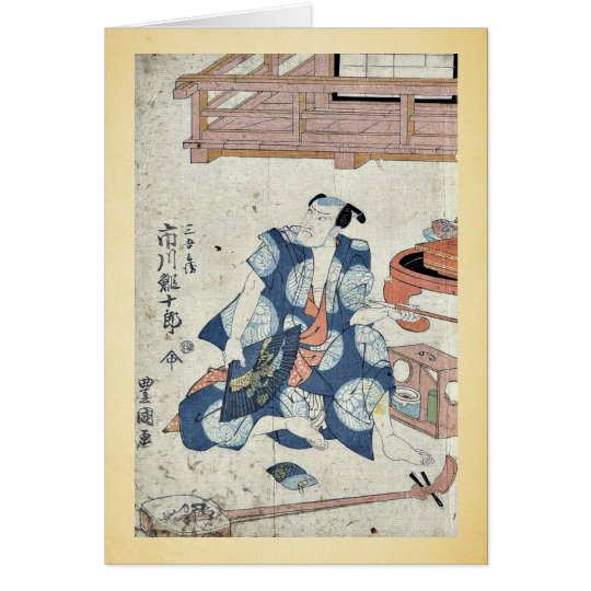 The actor Ichikawa Ebijuro by Utagawa,Toyokuni Card