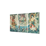The actor Ichikawa Ebizo V as the deity Fudo Myoo Stretched Canvas Print