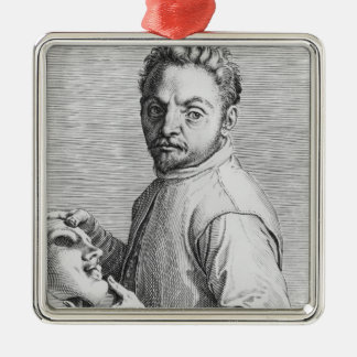 The Actor Jean Gabriel Swel Silver-Colored Square Decoration