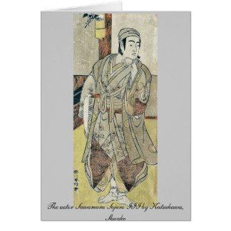 The actor Sawamura Sojuro III by Katsukawa, Shunko Note Card