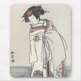 The Actor Segawa Kikunojo II, Shunsho, 1770s Mouse Pad