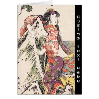 The Actor Segawa Kikunojo III in a Female Role art Note Card