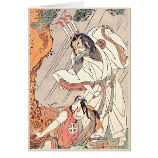 The Actors Ichimura Uzaemon IX in the Role of Ko-k Note Card