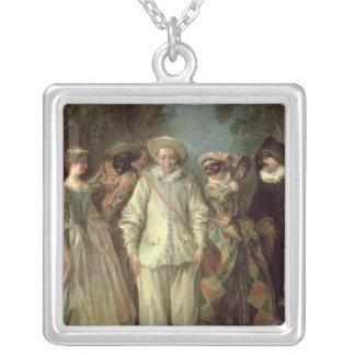 The Actors of the Commedia dell'Arte Silver Plated Necklace