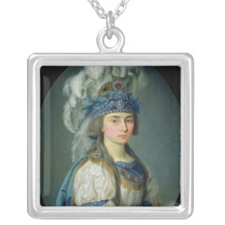 The actress and singer Praskovya Zhemchugova Silver Plated Necklace