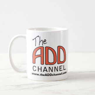 The ADD Channel - We Focus On Distractions Basic White Mug