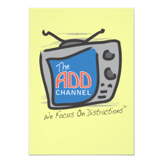 The ADD Channel - We Focus On Distractions Card
