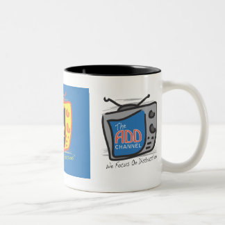 The ADD Channel - We Focus On Distractions Two-Tone Mug