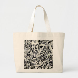 The Adept, or, A Freakish Transfiguration Large Tote Bag