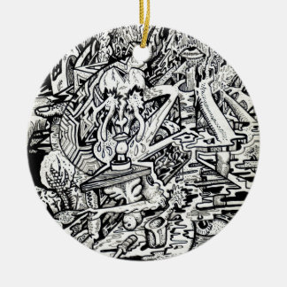 The Adept, or, A Freakish Transfiguration Round Ceramic Decoration