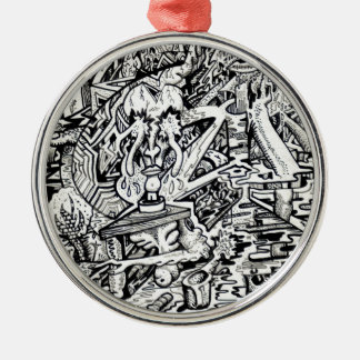 The Adept, or, A Freakish Transfiguration Silver-Colored Round Decoration