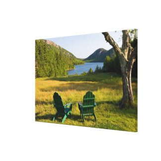 The Adirondack Chairs on the lawn of the Jordan Stretched Canvas Print