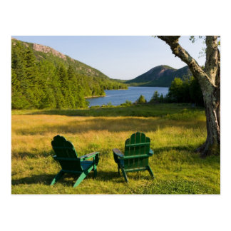 The Adirondack Chairs on the lawn of the Jordan Postcard