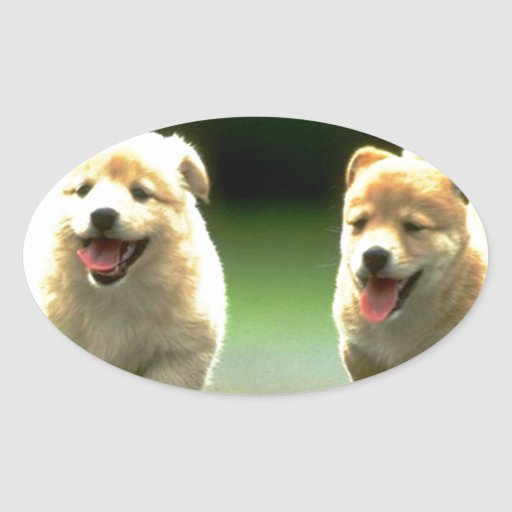 The Adorable Running Doggies Stickers