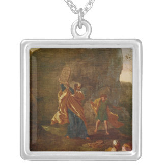 The Adoration of the Golden Calf, before 1634 Silver Plated Necklace