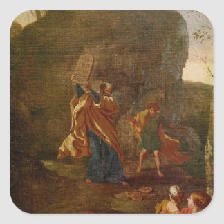 The Adoration of the Golden Calf, before 1634 Square Sticker