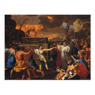 The Adoration Of The Golden Calf Postcard