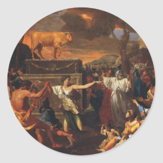 The Adoration Of The Golden Calf Round Sticker