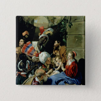 The Adoration of the Kings, 1612 15 Cm Square Badge
