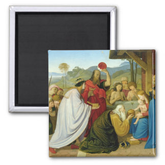 The Adoration of the Kings, 1813 Square Magnet