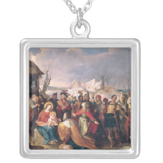 The Adoration of the Magi 3 Silver Plated Necklace