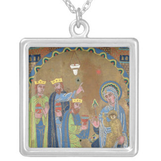 The Adoration of the Magi, c.1189 Silver Plated Necklace