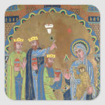 The Adoration of the Magi, c.1189 Square Sticker