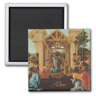 The Adoration of the Magi, c.1478-82 Square Magnet