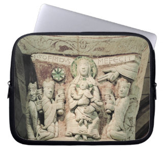 The Adoration of the Magi, column capital (stone) Laptop Sleeve