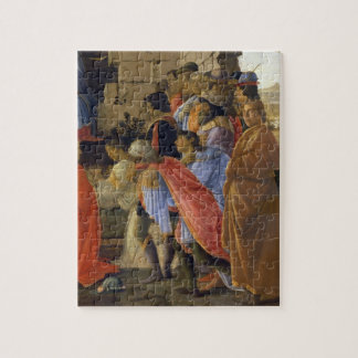 The Adoration of the Magi, detail of depicting sel Jigsaw Puzzle