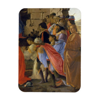 The Adoration of the Magi, detail of depicting sel Rectangular Photo Magnet