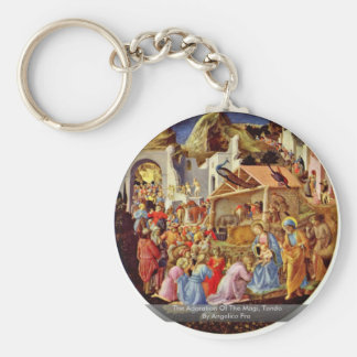 The Adoration Of The Magi Tondo By Angelico Fra Key Chain
