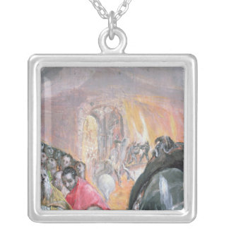 The Adoration of the Name of Jesus, c.1578 Silver Plated Necklace