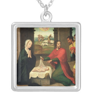 The Adoration of the Shepherds, 1550-60 Silver Plated Necklace