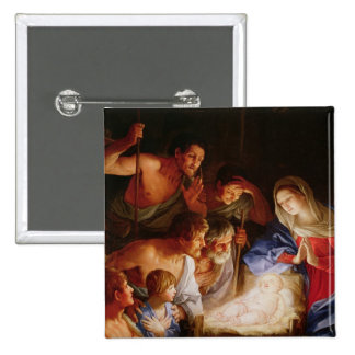 The Adoration of the Shepherds 15 Cm Square Badge