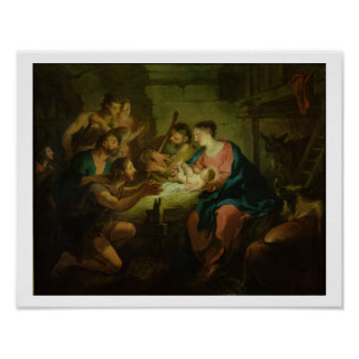 The Adoration of the Shepherds, 1725 (oil on canva Poster