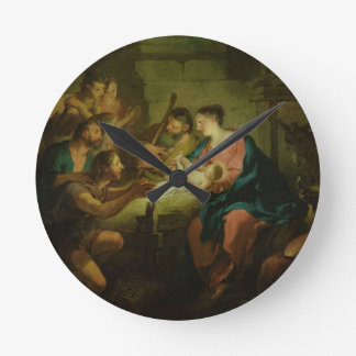 The Adoration of the Shepherds, 1725 (oil on canva Wall Clocks