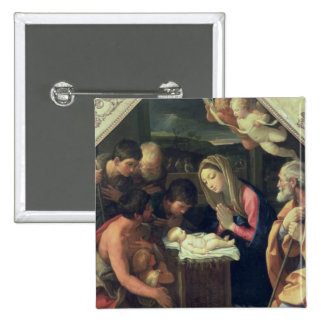 The Adoration of the Shepherds, c.1640-42 15 Cm Square Badge
