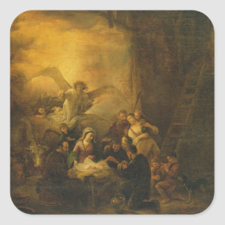 The Adoration of the Shepherds, c.1650 Square Sticker