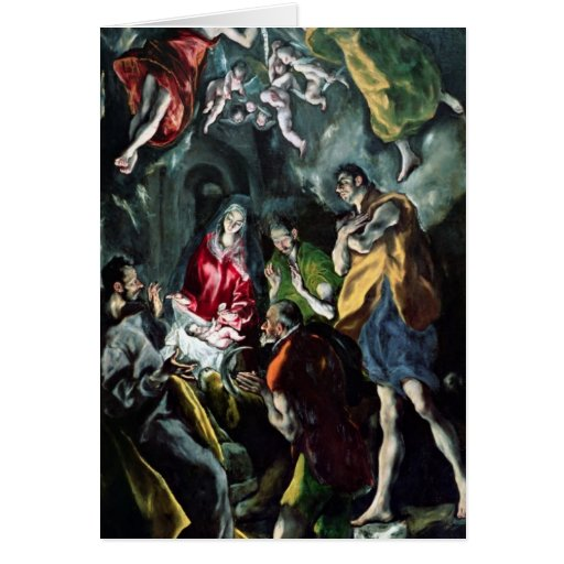 The Adoration of the Shepherds Greeting Card