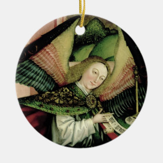 The Adoration of the Shepherds - detail of an Ange Round Ceramic Decoration