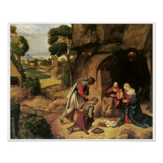 The Adoration of the Shepherds, Giorgione Poster