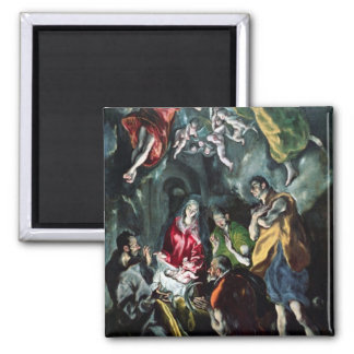 The Adoration of the Shepherds Square Magnet