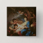 The Adoration of the Shepherds (oil on canvas) 2 15 Cm Square Badge
