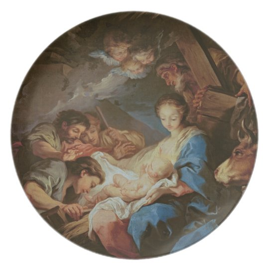 The Adoration of the Shepherds (oil on canvas) 2 Plate