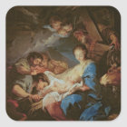 The Adoration of the Shepherds (oil on canvas) 2 Square Sticker