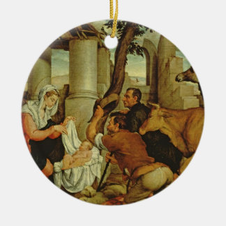 The Adoration of the Shepherds Round Ceramic Decoration