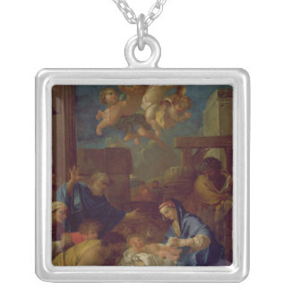 The Adoration of the Shepherds Silver Plated Necklace